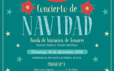 CONCIERTO NAVIDEÑO DE LA BANDA DE INICIACIÓN DE TOMARES.