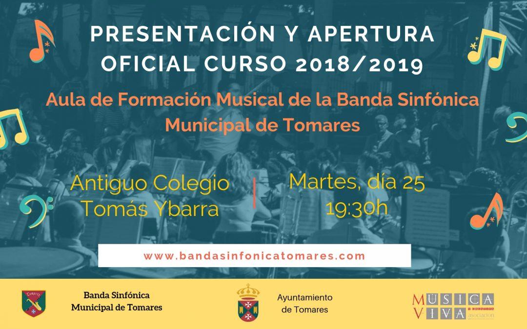 Presentación y Apertura Oficial Curso 2018/2019